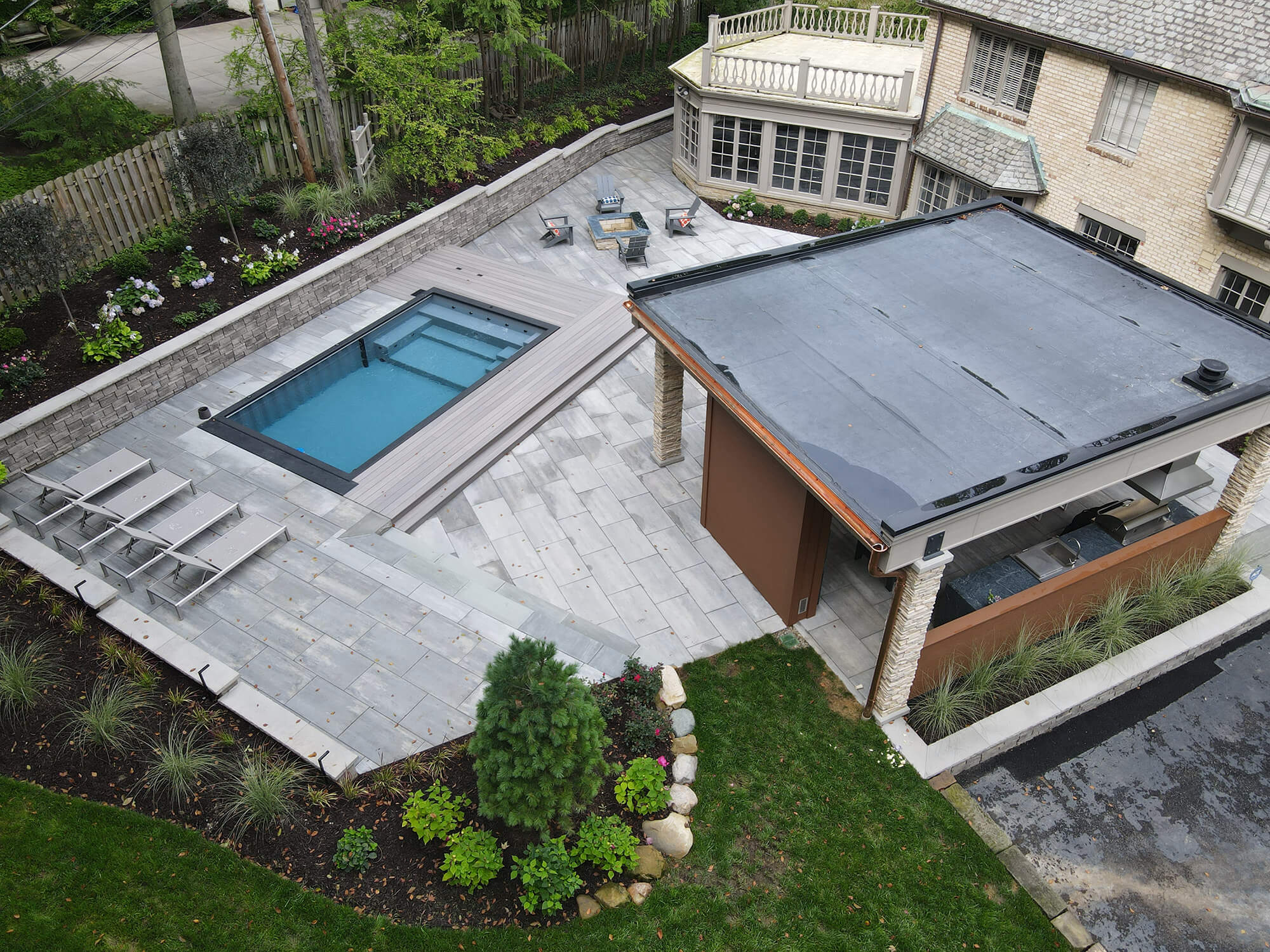 Patio with Pool and Outdoor Entertainment Area